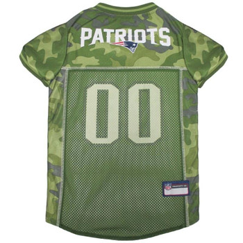 New England Patriots Pet Camo Jersey