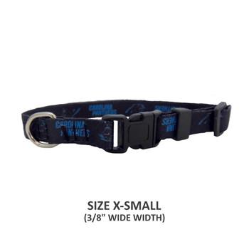 Carolina Panthers Pet Nylon Collar - Medium