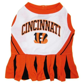 Cincinnati Bengals Cheerleader Dog Dress  - pfcin4007-0001