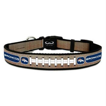 Denver Broncos Reflective Football Pet Collar