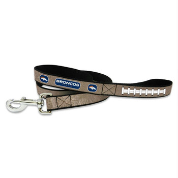 Denver Broncos Reflective Football Pet Leash