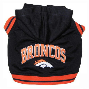 Denver Broncos Pet Dog Hoodie Sweatshirt
