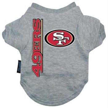 San Francisco 49ers Heather Grey Pet T-Shirt