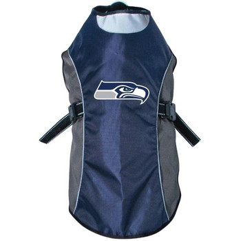 Seattle Seahawks Water Resistant Reflective Pet Jacket