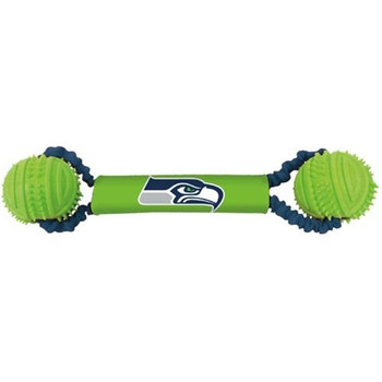 Seattle Seahawks Double Bungee Tug-N-Toss Toy