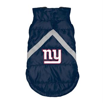 New York Giants Pet Puffer Vest - Teacup