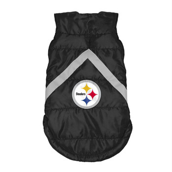 Pittsburgh Steelers Pet Puffer Vest - XS