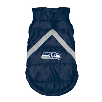 Seattle Seahawks Pet Puffer Vest - Teacup