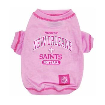 New Orleans Saints Pink Dog T-Shirt