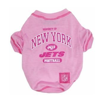 New York Jets Pink Dog T-Shirt