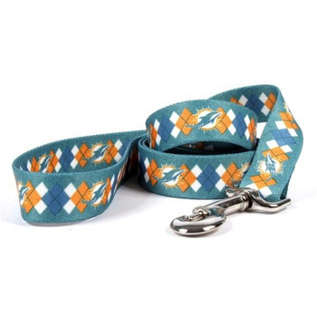 Miami Dolphins Argyle Nylon Leash
