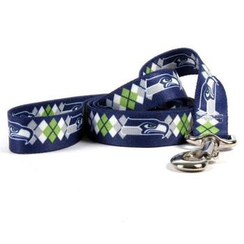 Seattle Seahawks Argyle Nylon Leash