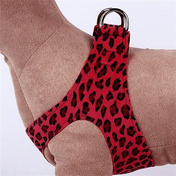 Red Cheetah Couture Plain Step In Dog Harness by Susan Lanci