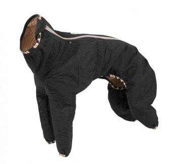 Hurtta Casual Quilted Dog Overall Jumpsuit, Black - Slim Breeds
