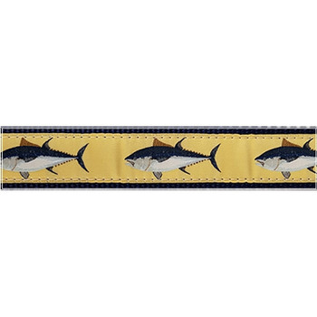 Dog Collar - Atlantic Blue Fin Tuna -  3/4 & 1 1/4