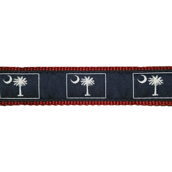 Palmetto and Moon 3/4 & 1.25 inch Dog Collar, Harness