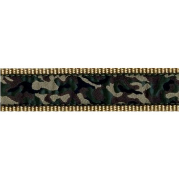 Dog Collar - Green Camo -  3/4 & 1 1/4