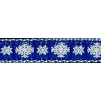 Dog Collar - Snowflakes -  3/4 & 1 1/4