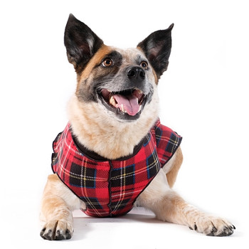 Red Tartan / Black Duluth Double Fleece Dog Wrap
