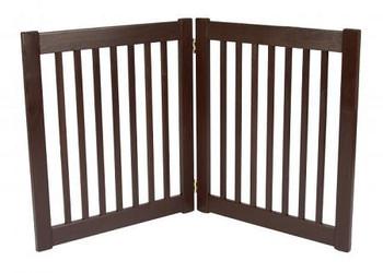 Two Panel EZ Pet Gate - Small/Mahogany