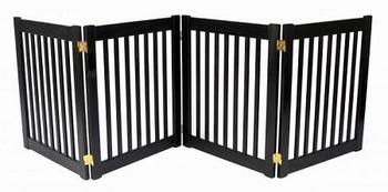 Four Panel EZ Pet Gate - Small/Mahogany