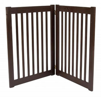 Two Panel EZ Pet Gate - Large/Mahogany