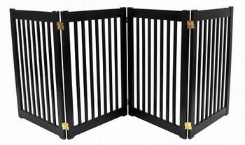 Four Panel EZ Pet Gate - Large/Mahogany