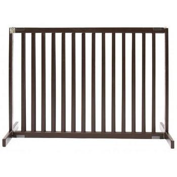 Free Standing Pet Gate - Small Tall/Mahogany