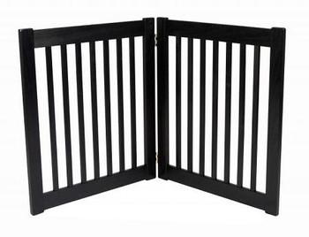 Two Panel EZ Pet Gate - Small/Black