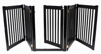Walk Through 5 Panel Free Standing Pet Gate - Black