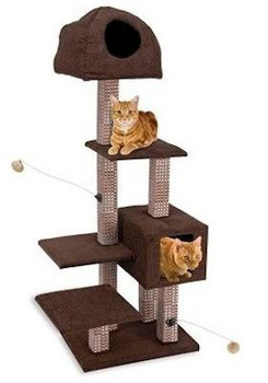 Dual Hide Away Lounge Tower with Bamboo Rubbing Posts
