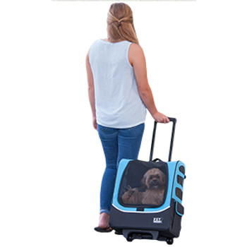 I-GO Plus Traveler Pet Carrier - Ocean Blue