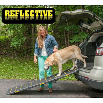 Tri-Fold Extra Wide Reflective Pet Ramp