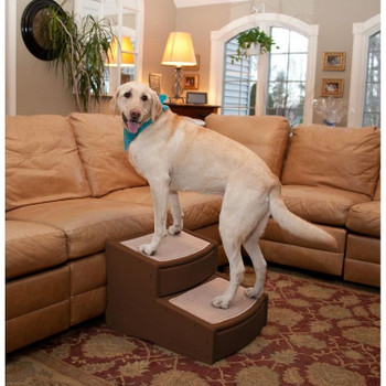 Easy Step II Extra Wide Pet Stairs - Chocolate