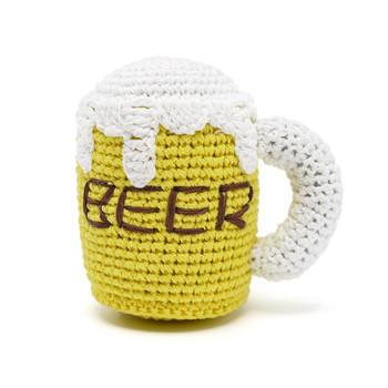Beer Mug PAWer Squeaker Dog Toy