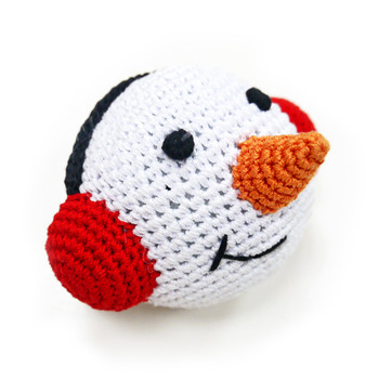 Snowman Ball PAWer Squeaker Dog Toy