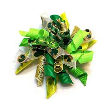 Dog Hair Bow Barrette - St. Patrick's Pot Of Gold