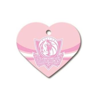 Dallas Mavericks Heart ID Tag