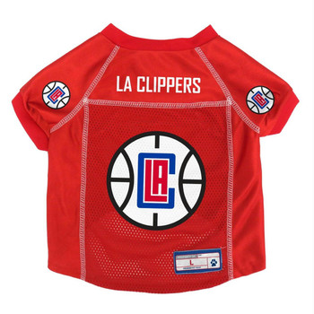 Los Angeles Clippers Pet Mesh Jersey - Small