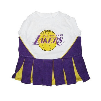 Los Angeles Lakers Cheerleader Dog Dress  - pflak4007-0001