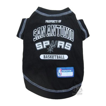 San Antonio Spurs Pet T-Shirt  - pfspu4014-0001