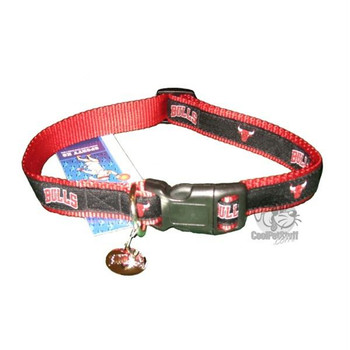 Chicago Bulls Alternate Style Dog Collar