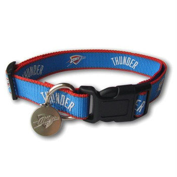 Oklahoma City Thunder Reflective Dog Collar