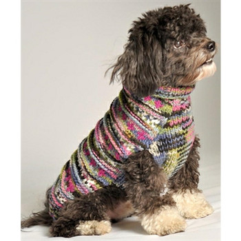 Purple WoodStock Cable Hand Knit Dog Sweaters