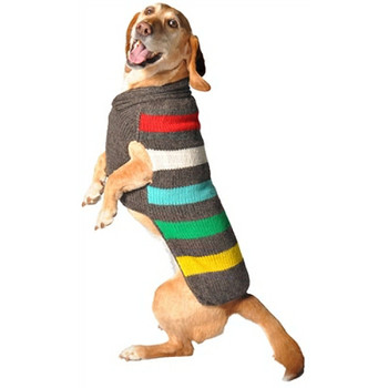 Charcoal Stripe Hand Knit Dog Sweaters