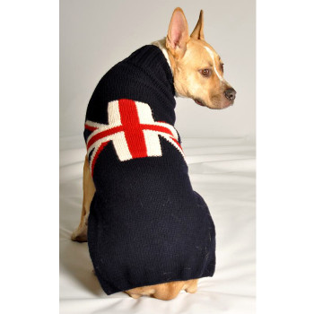 Union Jack Hand Knit Dog Sweaters