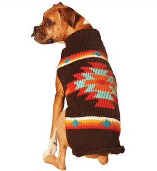 5e174205c84 Southwestern Brown Sunburst Hand Knit Dog Sweaters