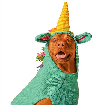 Unicorn Hand Knit Dog Sweaters