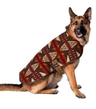 Handmade Brown Southwestern Wool Blanket Pet Dog Coat