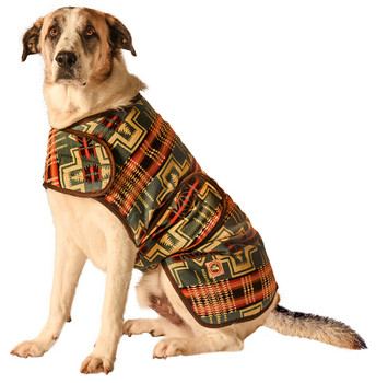 Handmade Denim Southwestern Blanket Pet Dog Coat